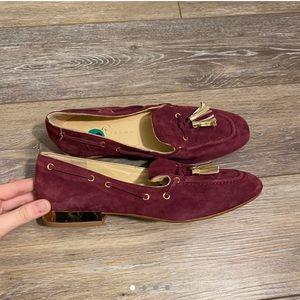 Ivanka Trump Burgundy Loafers Sz 8
